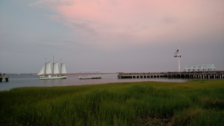 Boat Leaving A Dock in Charleston