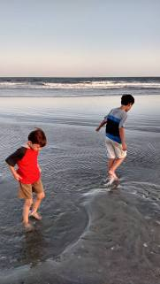 Boys On Beach