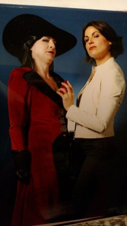 The real Regina/Evil Queen held my heart. She said I looked amazing. You had to be there.